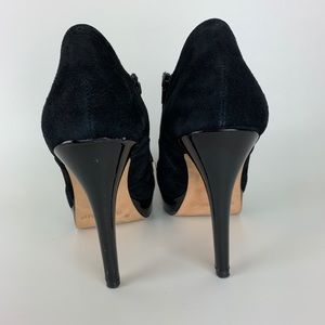 White House Black Market Shoes - WHBM Ramsey Suede Booties Shoes Platform Heels 10